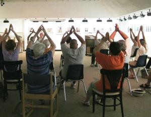 seated yoga reverse