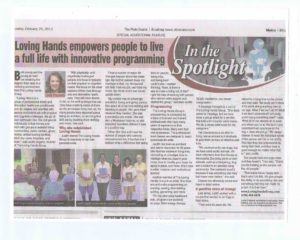 """Loving Hands Group Empowers People To Live A Full Life"" - The Plain Dealer (Feb 2012)"