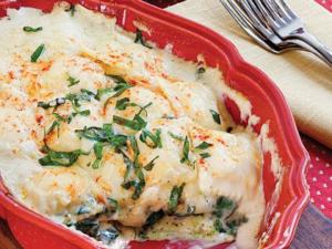 Spinach and Ravioli Lasagne